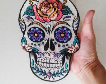 17da5881 dimamoo5(p) Sugar Skull embroidered patch