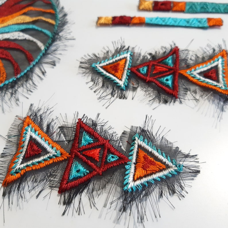 Formerly Wild p Moks 388 Indian Culture Set embroidery patches Native American art ornament