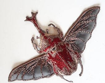 Moks(p)398 fashion patch japanese rhinoceros beetle