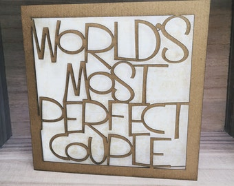 Worlds Most Perfect Couple Greetings Card wedding anniversary
