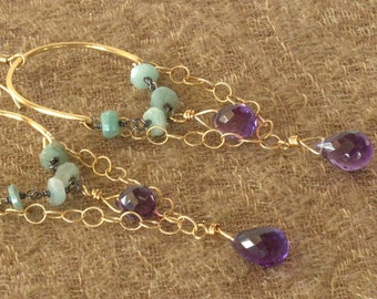 mixed metal amethyst and apatite