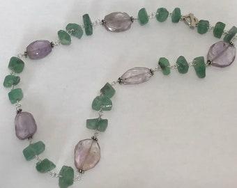 ametrine and fluorite necklace
