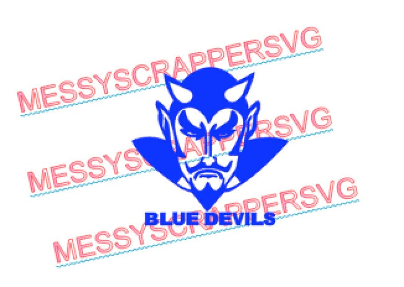 BLUE DEVIL file digital SVG file for HtV, Scrapbooking  Use with silhouette  designer edition and cricut explore for your crafting needs