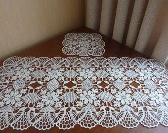 Innen Weiß Häkeln Deckchen Spitze Tischdecke Geometrisches Etsy