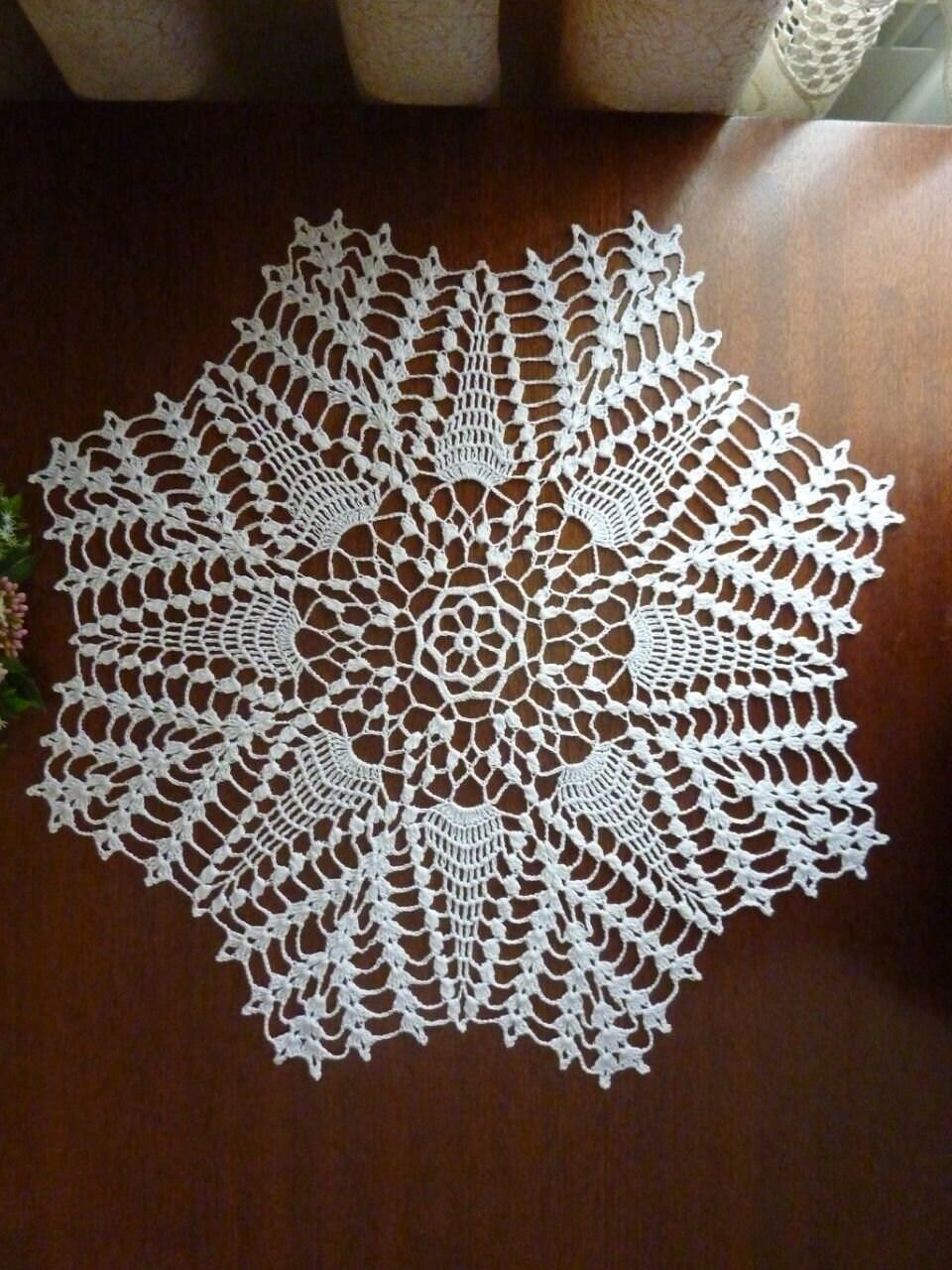 Crochet Decorcrochet Doiliesgeometric Designlace Etsy