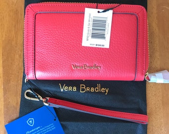 36712f24909e Vera Bradley Leather RFID grab and go wallet in Canyon Sunset. Please see  pictures   description of exact item.
