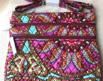 b10f5a9673 Vera Bradley Triple Zip Hipster Crossbody Bag in Resort Medallion pattern. New  with tags. Free shipping.