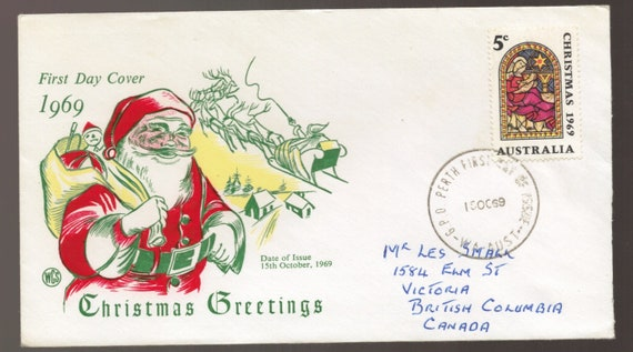 Christmas In Australia Date.Christmas Xmas Stamp Australia 1969 Wcs Fdc First Day Cover Philatelic Ephemera