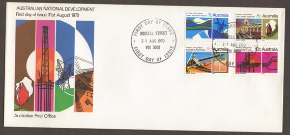 1970 Australian National Development Apo Long Format Unused Stamp Official Fdc First Day Cover Philatelic Stamps Gift