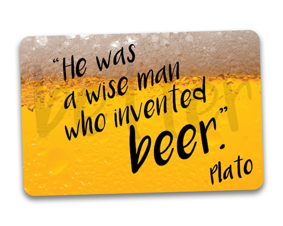 Beer Fridge Magnet He Was A Wise Man Who Invented Beer Funny Etsy