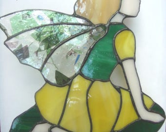 Stained glass Yellow Garden Fairy