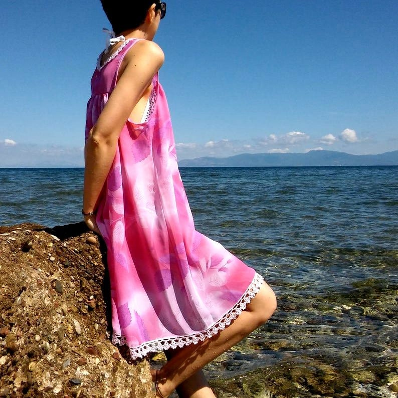 Women/'s Chiffon Dresses Summer dress Loose dress