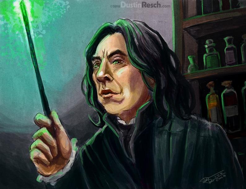 889fe5d8a Harry Potter  Professor Severus Snape Alan Rickman Portrait