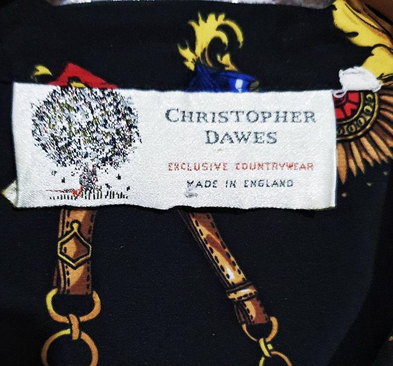 Vintage Christopher Dawes Baroque Printed Blouse Size 12