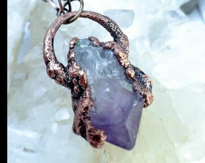 Raw Amethyst Point | Copper Electroformed | OOAK  Pendant Necklace