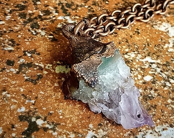 Natural Raw Amethyst Point Crystal Pendant * Copper Electroformed * Healing Crystal * Boho Necklace * Handcrafted OOAK
