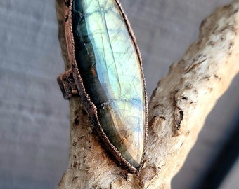 Large Flashy Labradorite | Handmade Statement Ring