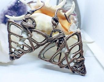 Sliced Trumpet Shell  Ear Weights | Gauged Ears | Handmade Ear Hooks