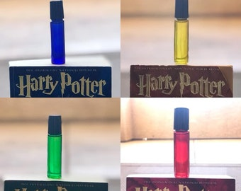 Harry Potter Inspired Hogwarts House Essential Oil Blend Rollers