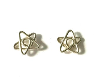 Sterling silver small star studs earrings