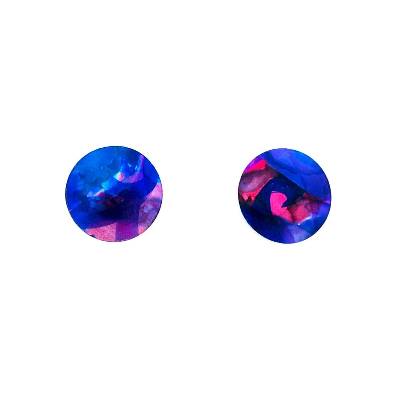 Multi coloured small round studs earrings light weight image 0