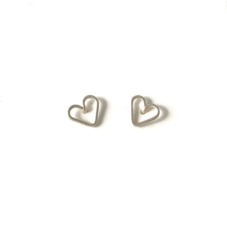 Sterling silver heart studs  image 0