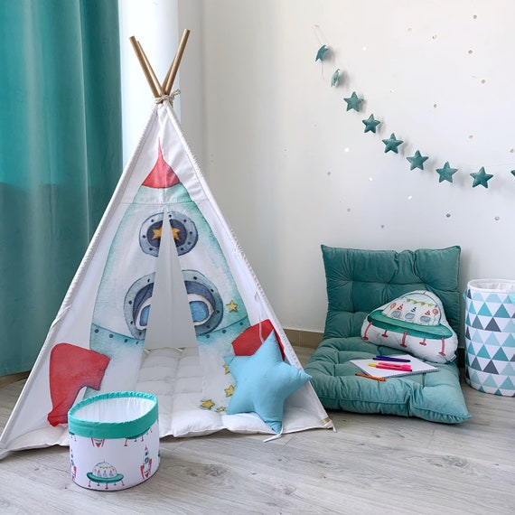 space collection,toy/'s basket with rockets nursery decor with kids teepee kit Space toy/'s basket kid room decor toddler room decor