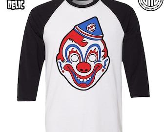 Clown Mask - Men's (Unisex) Baseball Tee