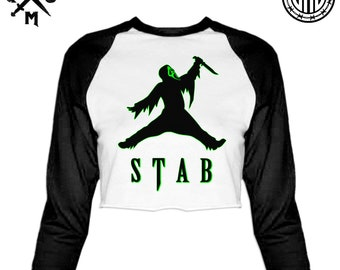 Just Stab It - Women's Raglan Crop Top