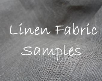 Linen fabric samples