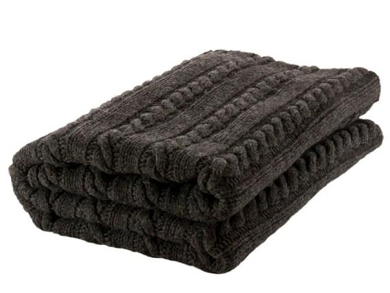 100 merino wolle decke stricken wolle decke kissenbezug. Black Bedroom Furniture Sets. Home Design Ideas