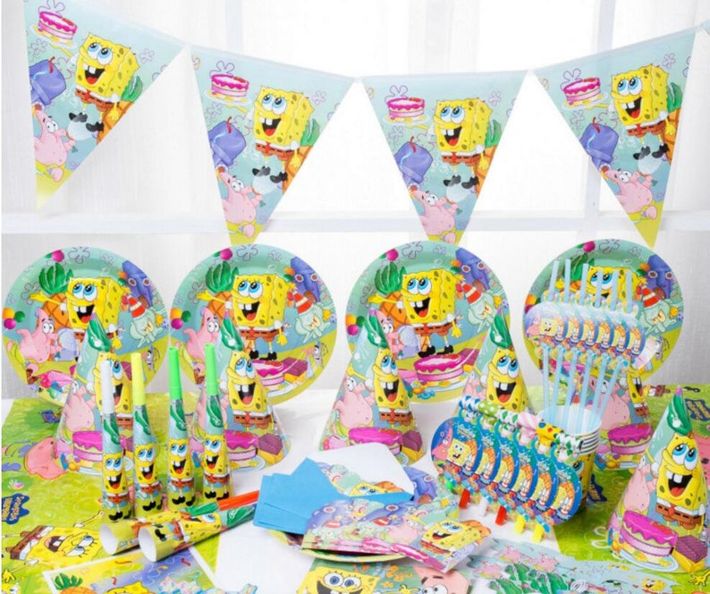 530df0bacf3f5 New 51 88pcs set SpongeBob theme party set kids birthday party