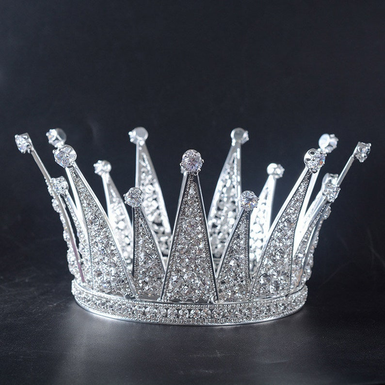 4f8f5314b8 Luxurious Silver Zircon Wedding Bridal Tiaras and Crowns Bride Headpiece  Queen Diadem Women Hair Ornaments Jewelry Accessories