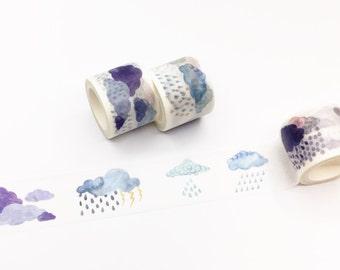 Cloud and Rain Washi Tape