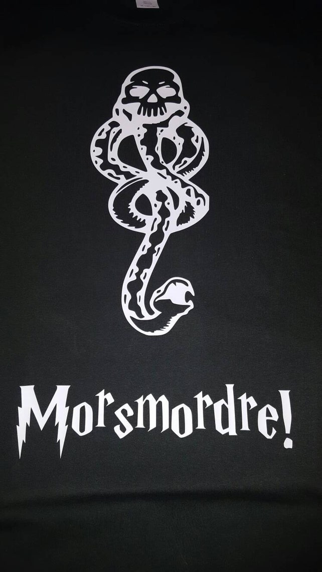 Mens Or Womens Death Eater Inspired Shirt Morsmordre Spell Etsy