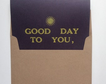 Good Day To You Card
