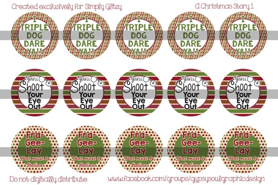 4x6 Simply Glitzy A Christmas Story Bottle Cap Image BCI
