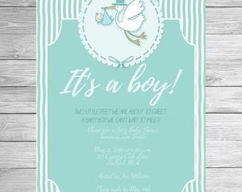 Printable Baby Shower Invitation It's a boy Invitation Customized
