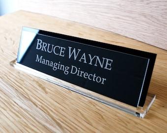 Personalised Desk Name Plaque, Office Plaque, Desk nameplate