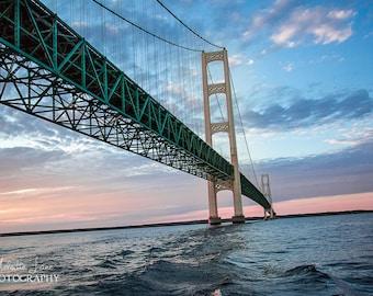 Mackinac Bridge, Mighty Mac, Straights of Mackinac, Great Lakes, Michigan Photography, Mackinaw City, Bridge Photography, Pure Michigan