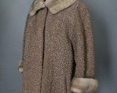 Schiaparelli Blonde Mink and Persian Lamb Vintage Coat