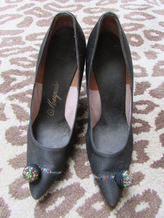Glamour Goth 1950s Rhinestone Heels