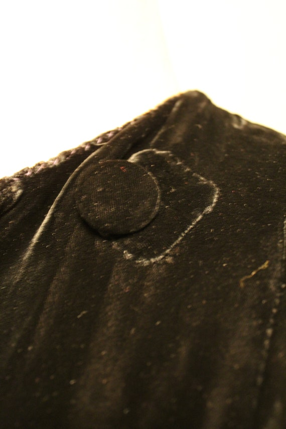 1930s Black Silk Velvet Maxi Coat - image 8