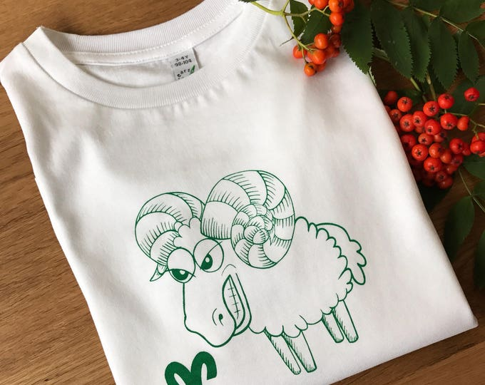 Aries Zodiac - Organic Toddler T-shirt