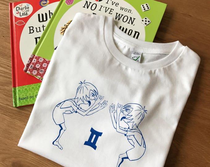 Gemini Zodiac - Organic Toddler T-shirt