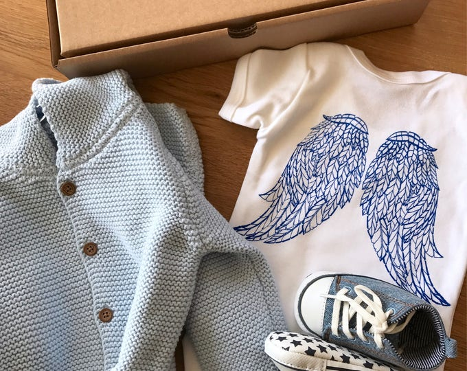 Angel's Wings - Organic Baby Bodysuit
