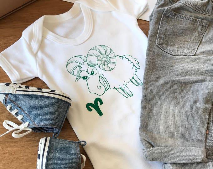 Aries Zodiac - Organic Baby Bodysuit