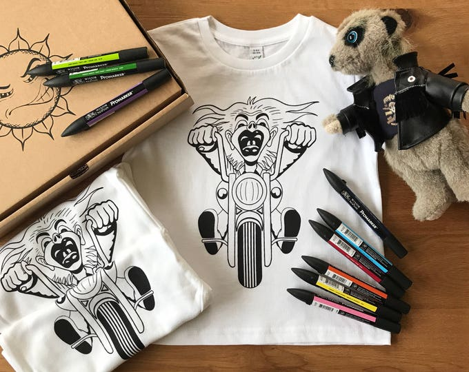 Bike Rider - Organic Toddler T-shirt