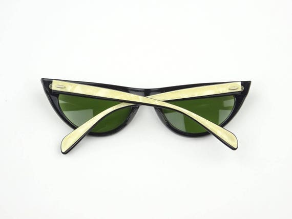 1950s Vintage Ray Ban B&L EGYPTIAN Black And Pearl Two Tone Cool Sunglasses Excellent