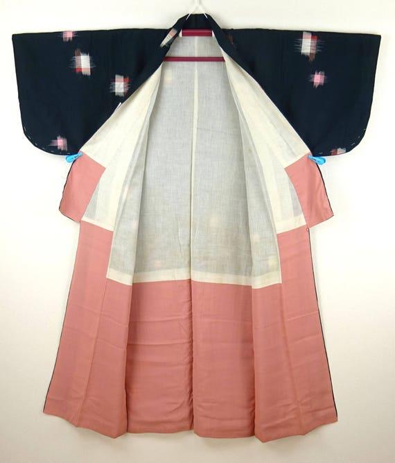 1920s-1930s Vintage Silk Japanese Kimono / Pink, … - image 7